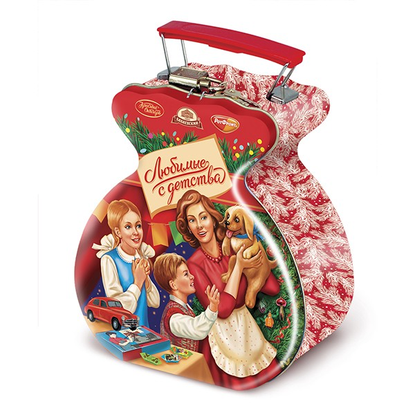 """Chocolate Candy Assortment Favorite from Childhood Christmas & New Year Gourmet Gift """"Sweet Caprice"""", 15.87 oz / 450 g"""