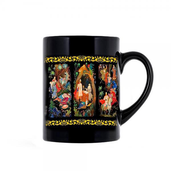 "Souvenir Mug Palekh Fragments, Size 3.75"" (00030)"