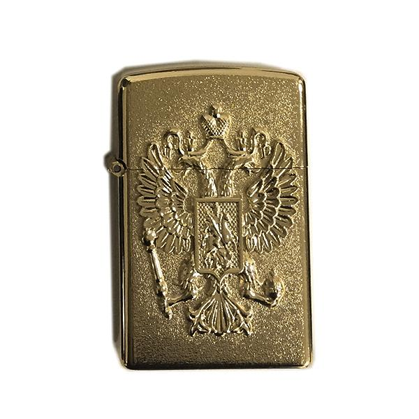 Bronze Lighter with Russian Federation Coat of Arms, 2.25""