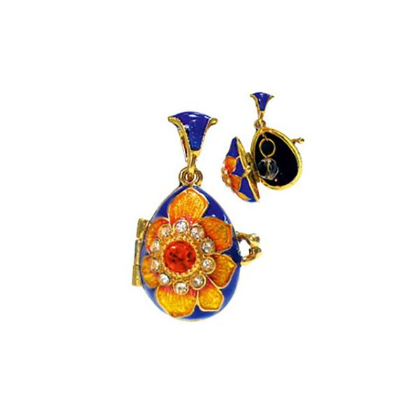 "Locket Pendant ""Sunflower"" (blue), 1"" (1214-5202)"