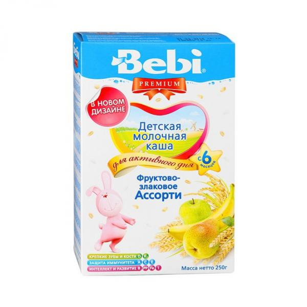 Bebi Premium Milk Porridge with Fruits and Grains, 8.82 oz / 250 g