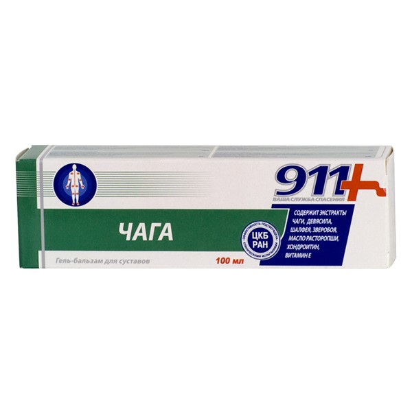 Gel-balm for Joints with Chaga Mushroom, 3.38 oz/ 100 ml