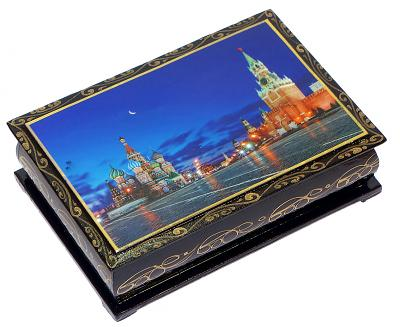 "Dried Apricots in Chocolate With Walnuts in a Lacquer Box ""Moscow"", 150 g"