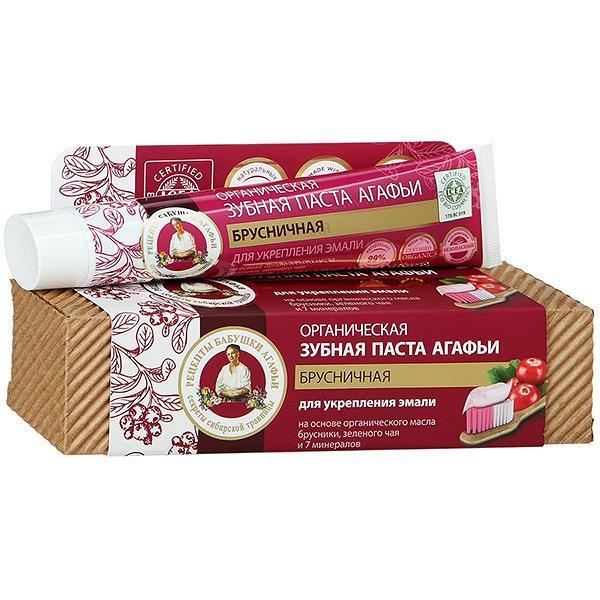 Grandma Agafia Enamel Strengthening Toothpaste with Cranberry, 2.53 oz/ 75 Ml