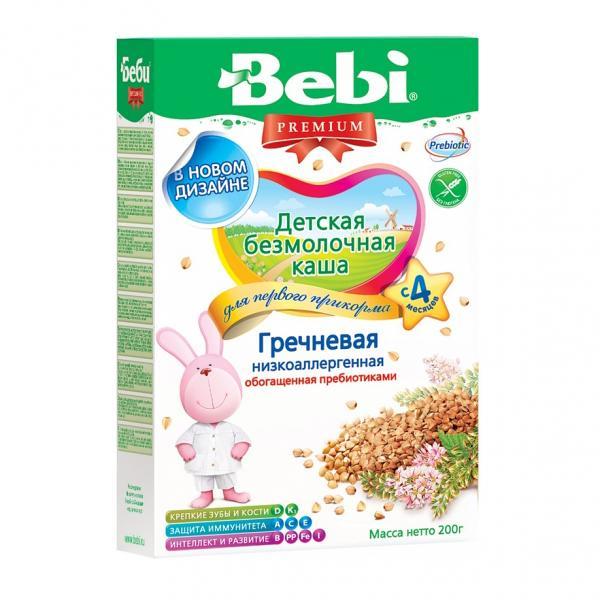 Bebi Premium Low-Allergenic Buckwheat Porridge without Milk, 7.05 oz/ 200 g