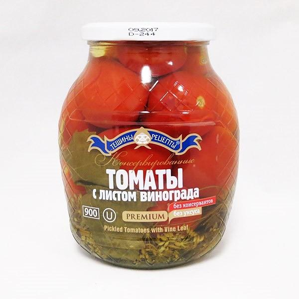 Pickled Tomatoes with Vine Leaf, 1.98 lb/ 900 g