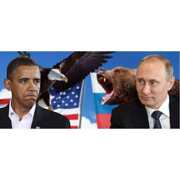 """President Putin - Obama Tea & Coffee Souvenir Mug, Size 3.75"""""""