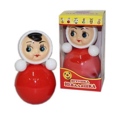 Small Roly-Poly Nevalyashka Doll, 4.5'' (6C-028)