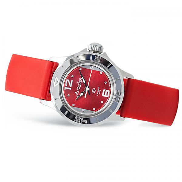 Vostok Amphibian Russian Automatic Women's Watch (051224) Red