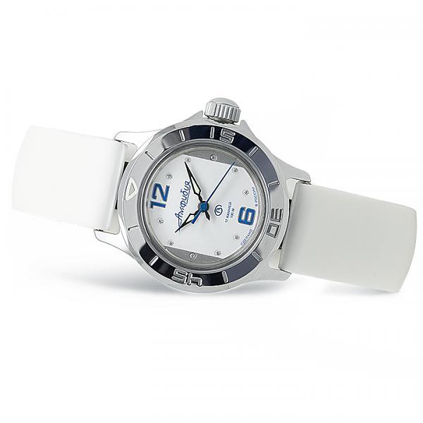 Vostok Amphibian Russian Automatic Women's Watch (051230) White