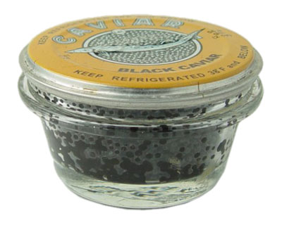 Sturgeon Paddle Fish Black Caviar Malosol in Glass Jar, 4 oz / 113 g
