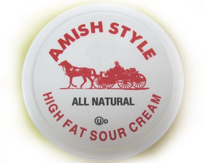 All Natural Amish Style Sour Cream  1lb
