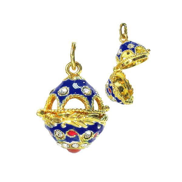 "Locket Pendant ""Jug"" (blue), 1"" (1214-02-02)"
