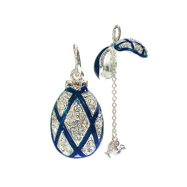 "Locket Pendant ""Rhombus"" (blue), 1"" (1214-2607)"