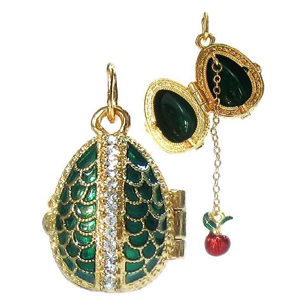 "Locket Pendant Scale (green), 1"" (1214-4203)"