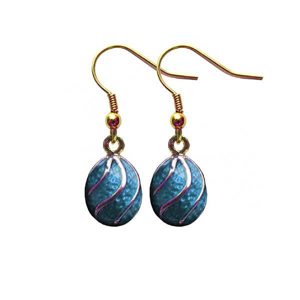 """Russian Style Earrings Set """"Spiral"""" (light blue), 1219-12-05"""