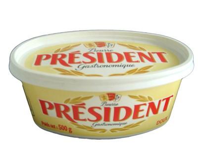 """Butter """"President"""", 1.1 lb / 500 g"""