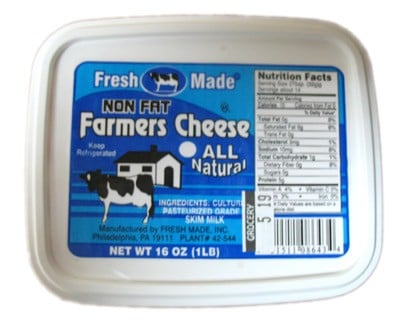 Non Fat Farmer Cheese, 1 lb/ 0.45 kg