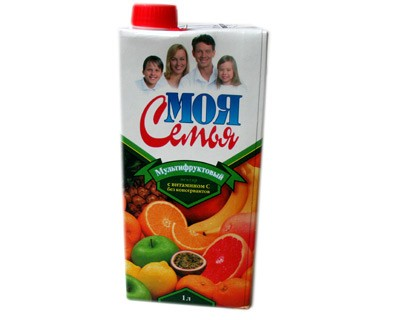 Moya Semya Multifruit Nectar, 33.81 oz / 1 L
