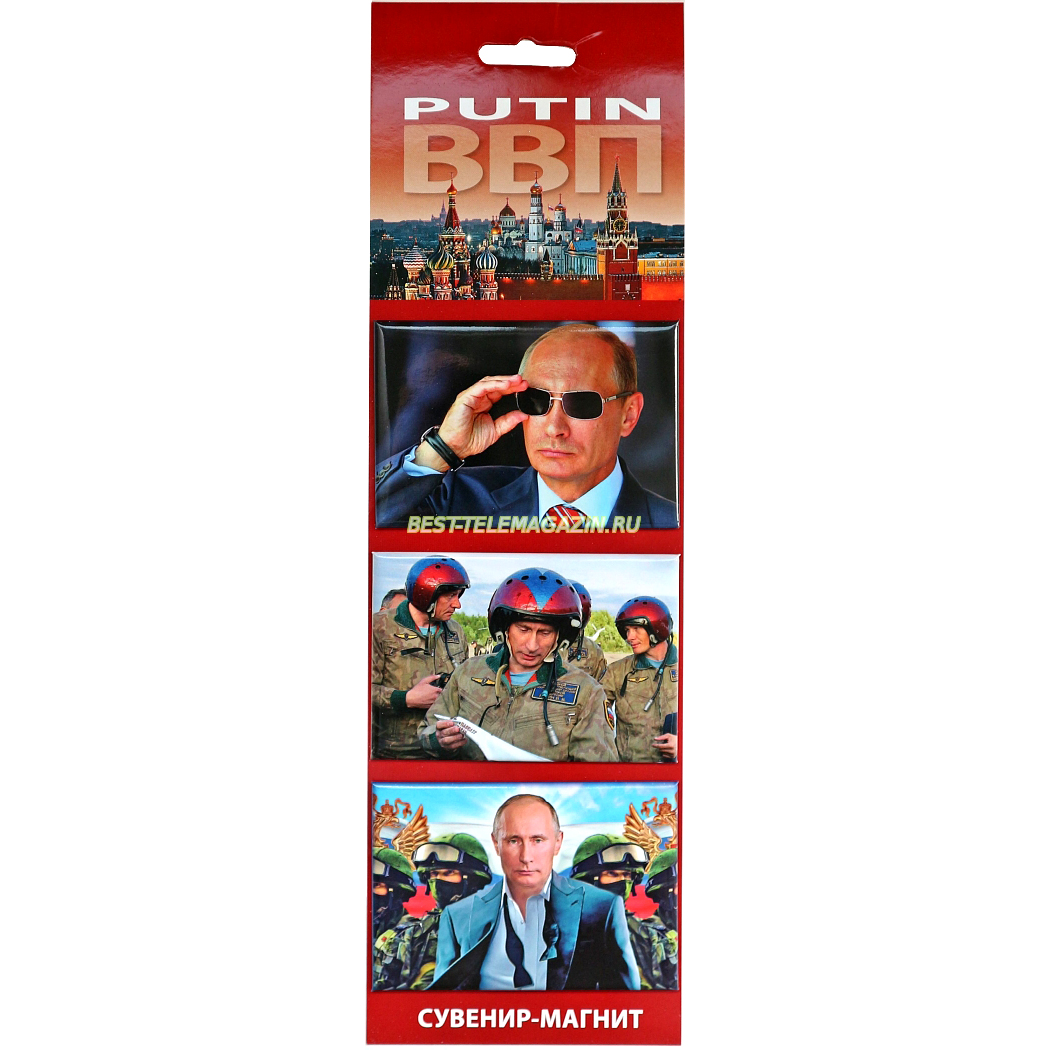 Putin Magnet Set of 3