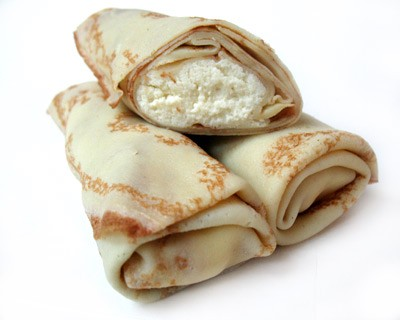 Russian Blini with Cheese/ Crepes