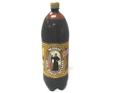 Monastery Kvass with Honey, 67.6 oz/ 2 liter