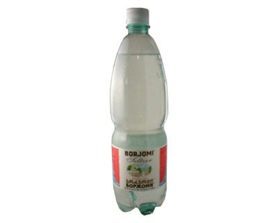 Mineral Water Borgomi (Plastic Bottle), 25.36 oz / 0.75 liter