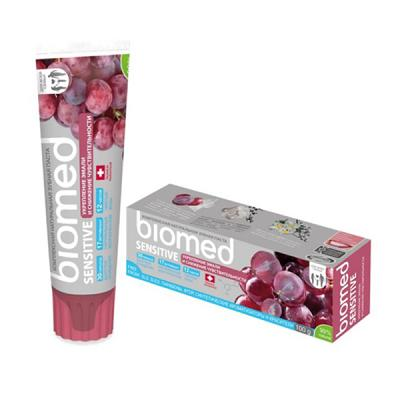 Biomed Sensitive Natural Mineral Complex Toothpaste with Grape Seed Extract, 3.53 oz / 100 g