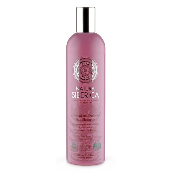 "Shampoo Hair ""Protection & Shine"" for Colored & Damaged Hair with Rhodiola Rosea and Beeswax, 13.52oz/400ml"