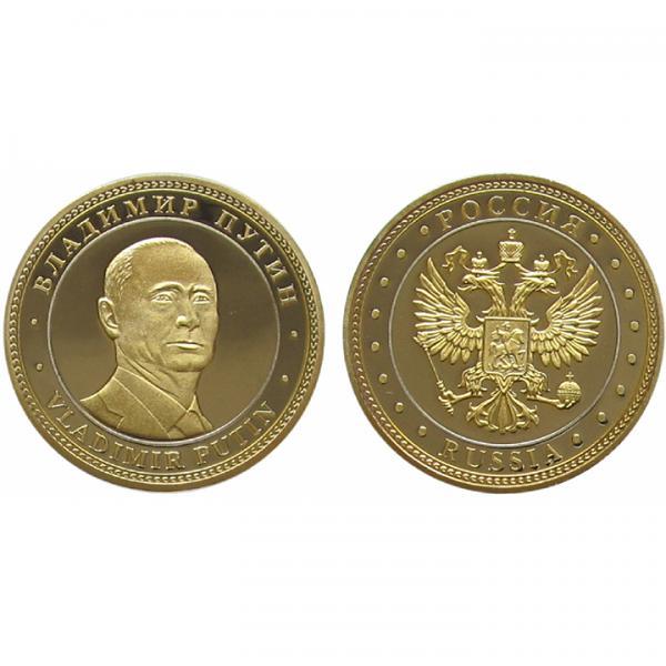 "Souvenir Coin with Vladimir Putin Image, 1.3"" x 1.3"""