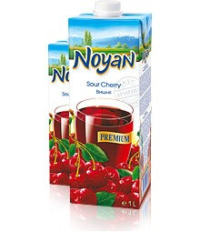 Natural Premium Armenian Noyan Sour Cherry Juice, 34 oz / 1 L