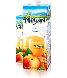 Natural Premium Armenian Noyan Peach Juice, 34 oz / 1 L