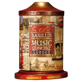 Basilur Tea Music Concert London, Tin Caddy, 3.53 oz / 100 g