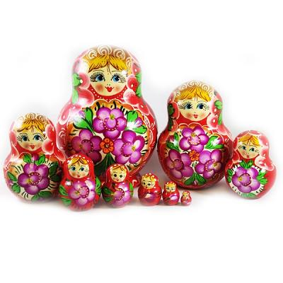 "Nesting Doll (Matryoshka) ""Lightbulb"" Russian Traditional Souvenir, 10 Pcs, Height - 5"""