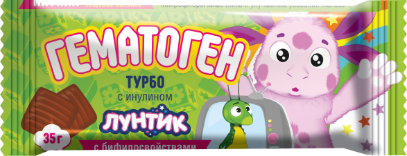 "Turbogematogen for Kids ""Luntik"" w/ Inulin, 1.23 oz/ 35 g"