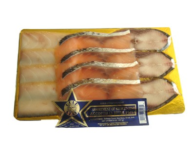Assortment of Cold Smoked Fish, 3 Types, 8 oz/ 0.22 kg