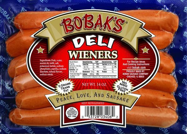 Baby Veal Sausage Deli Wieners, 1 lb