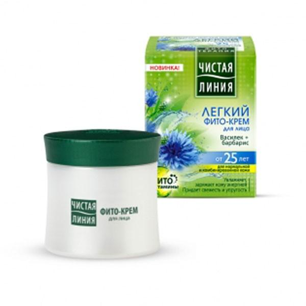 """Phyto-cream """"Cornflower and Barberry"""" for normal and combination skin 25+, 1.69 oz/ 50 Ml"""