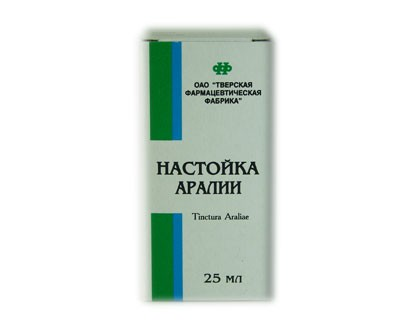 Aralia Tincture, 0.84 oz/ 25 Ml