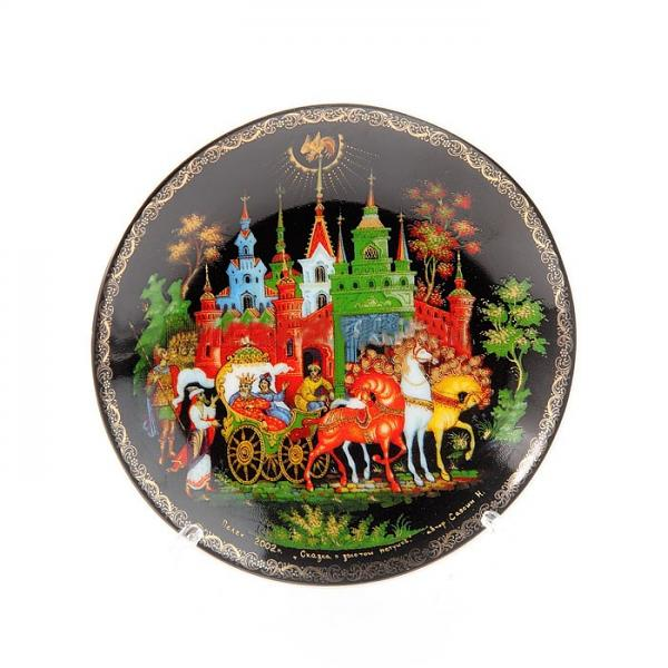 """Decorative Plate """"The Tale of the Golden Cockerel"""", 10 cm"""