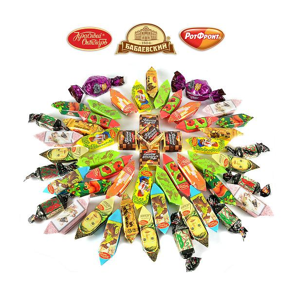 "Assorted Chocolate Candy ""Moscow"" by All Traditional Moscow Factories, 1 lb / 0.45 kg"