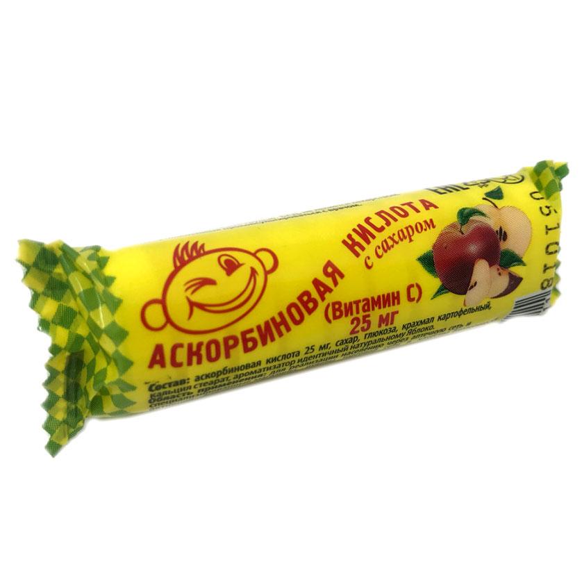 """Ascorbic Acid """"Askorbinka"""", Apple, 10 Tab"""