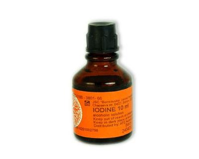 Iodine Solution 2.2%, 0.3 oz/ 10 Ml