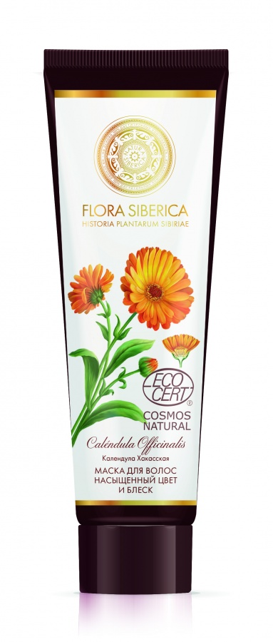 "Hair Mask with Calendula ""Color Proof & Shine"" by Flora Siberica, 6.76 oz / 200 ml"
