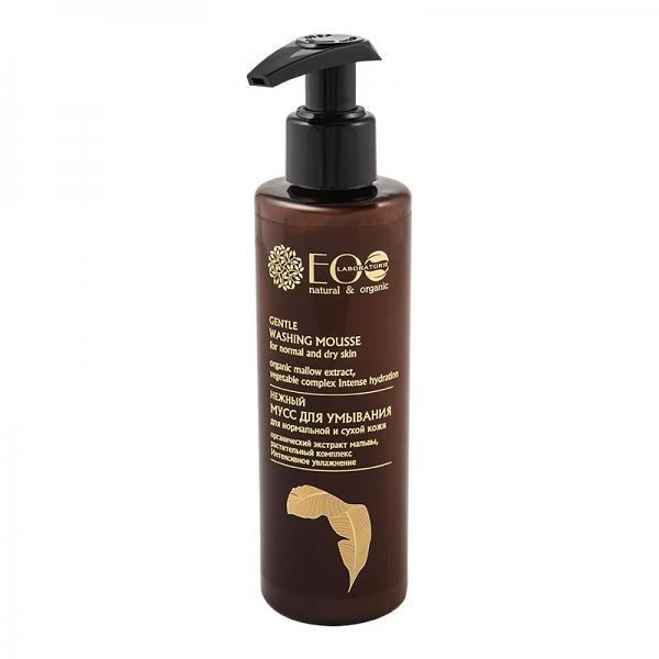 Gentle Face Washing Foam Delicate Cleansing for Normal and Dry Skin, 6.76 oz / 200 ml