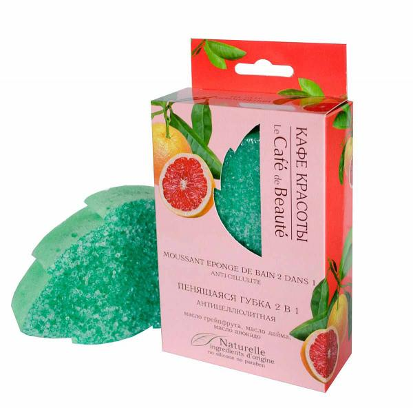 Foaming Massage Sponge 2-in-1 Anti-Cellulite, 120 g