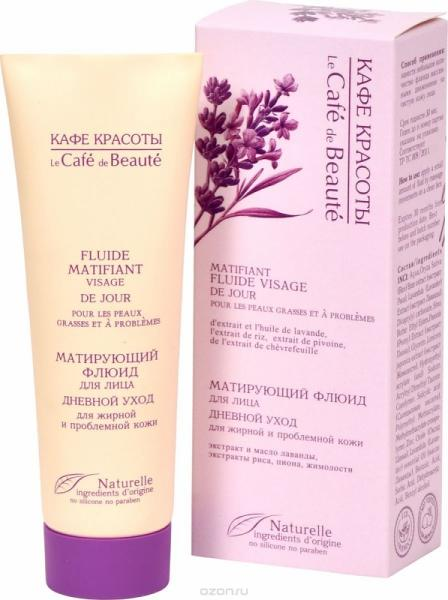 Matting fluid for face for oily and problem skin, 1.69 oz / 50 ml