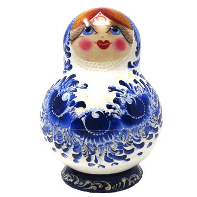 Russian Nesting Dolls Matryoshka Gzhel Pattern Hand Painted