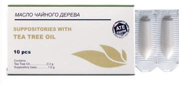 Suppositories with Tea Tree Oil, 10 Pcs