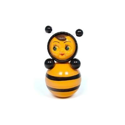 "Tumbler Toy, Roly-poly Baby Toy, ""Nevalyashka Bee"" with Sound, Medium 9"" (011)"
